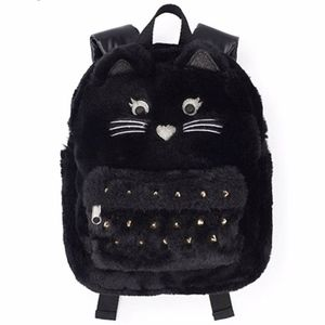 The.Children's Place faux fur cat backpack